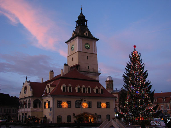 Christmas Eve 2009 in Brasov, Romania