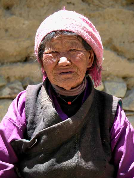 Elderly Woman of Drak, Tibet