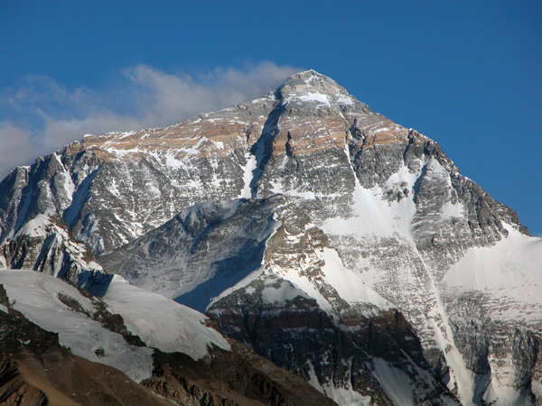 Mt. Everest, or Qomolangma to the Tibetans - 8,848 m. (29,028 ft.)