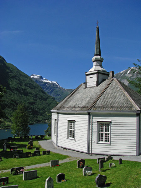 Church in Geiranger, Norway