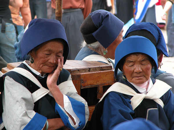 Naxi Nap Time in Lijiang, China