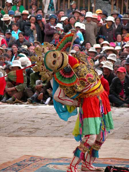 Cham Dancing at Samye Monastery
