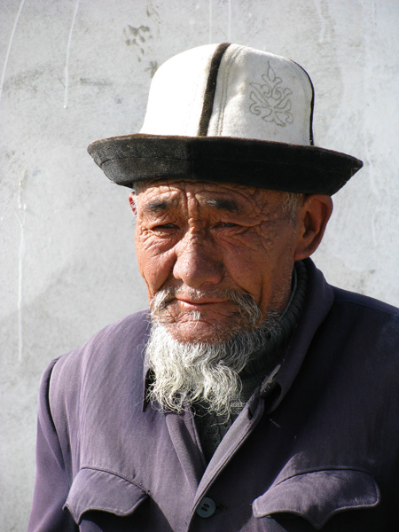 Kyrgyz Man at Karakul Lake in Western China