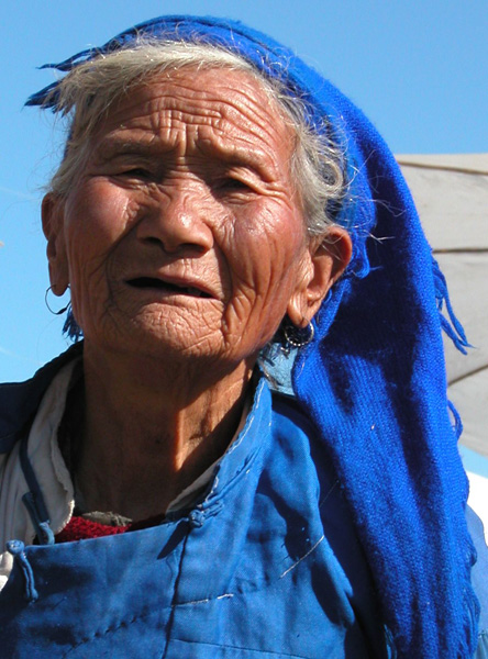 Xizhou, China - The Woman in Blue