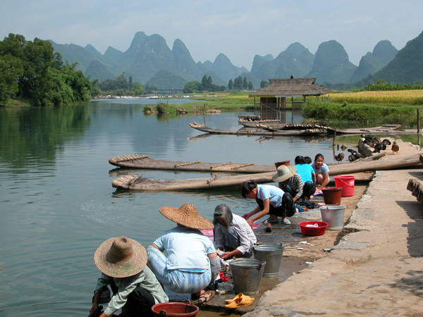 Laundry Day in Yangshuo, China
