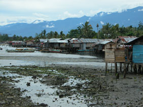Manokwari Homes at Low Tide