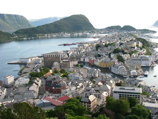 Alesund from the Lookout