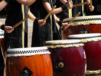 Taiko Drumming at Kiso-Fukushima Festival