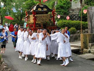 Carrying the Mikoshi Through Tsumago