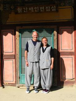 Rhona and I at Haeinsa Temple