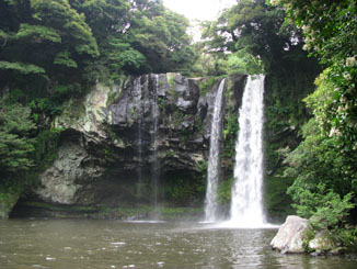 Cheonjiyeon Waterfall near Seogwipo