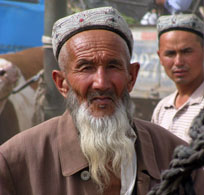 Local at the Sunday Livestock Market in Kashgar