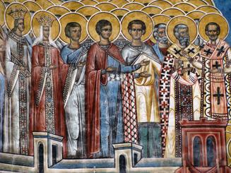 Part of the Voronet Monastery Frescoe