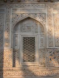 Inlay and lattice work on Baby Taj