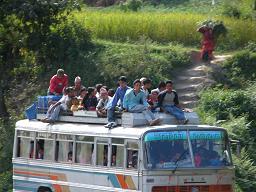Fun bus travel - Nepali style