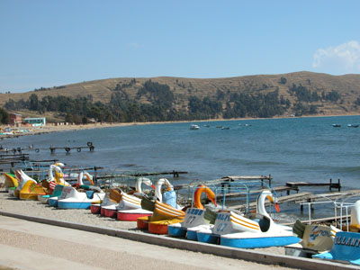 Duck and Swan Boats on Lake Titicaca