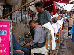 Anshun, China - Haircut and a Shave