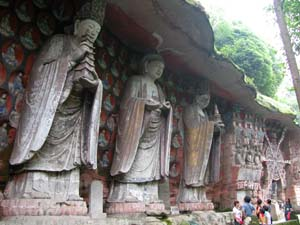 Baoding Shan, China - Carvings