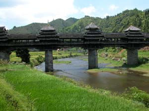 Chengyang, China - Covered Bridge in a Dong Village