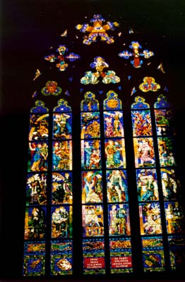 Prague, Czech Republic - St. Vitus Cathedral Stain Glass
