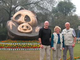 Dad, Laura, and I at the panda research center in Chengdu