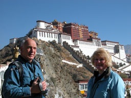 Dad and Laura in front of the Potala Palace