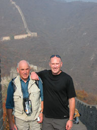 Dad and I on the Great Wall