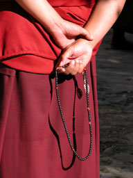 Monk and his prayer beads