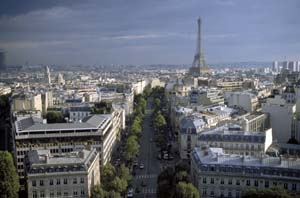 Eiffel from Arc de Triomphe