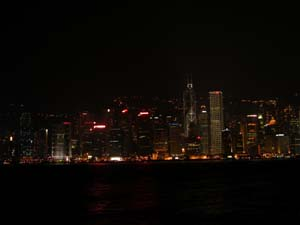 Hong Kong, China - Night Skyline