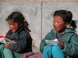 Learning the Tibetan alphabet