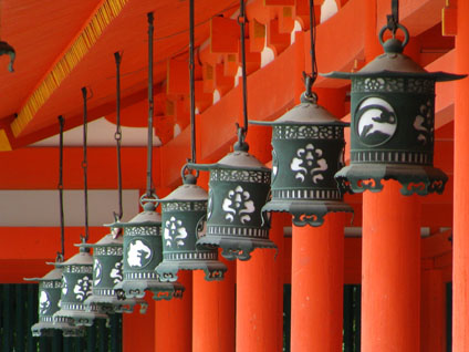 Lanterns at Heian Jingu in Kyoto