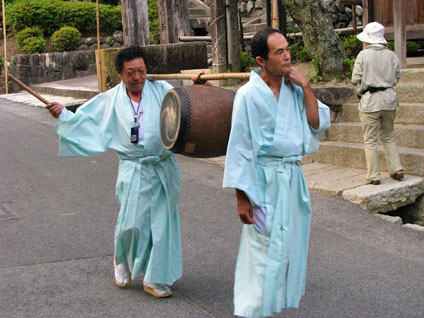Drum Before the Mikoshi in Tsumago