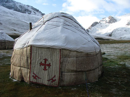 Tash Rabat, Kyrgyzstan - Home for the Night