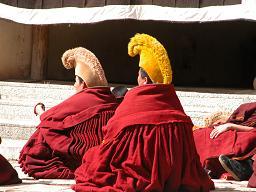 Monks debating in Langmusi
