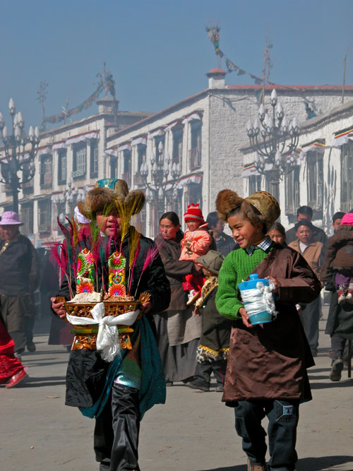 Traditional barley offering and barley beer for Tibetan New Year (Losar)