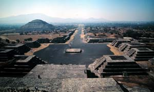 Teotihuacan, Mexico - View from Pyramid of the Moon