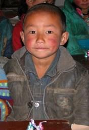 Eager Tibetan student
