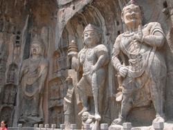 Carvings at Longmen Grottoes