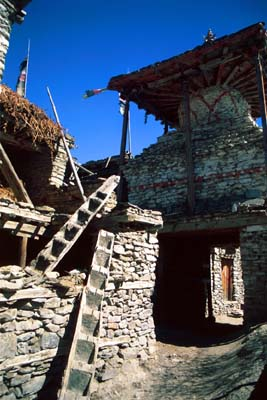Traditional Homes in Manang