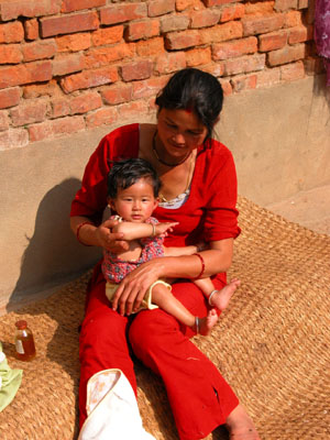 Dhulikel, Nepal - Mother and Child