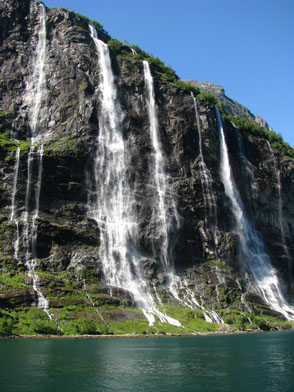 Seven Sisters Waterfall in Geiranger Fjord