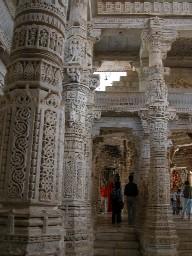 Carved pillar at Ranakhpur