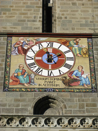 Brasov, Romania - Clock on Black Church