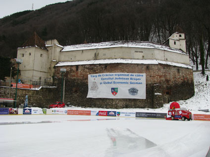 Brasov, Romania - Weaver's Bastion (and Zamboni)