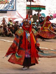 Cham dancing at Samye Monastery