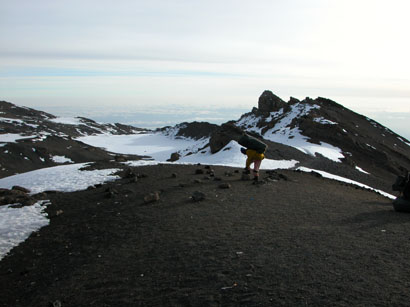 From the Crater Rim of Mt. Kilimanjaro