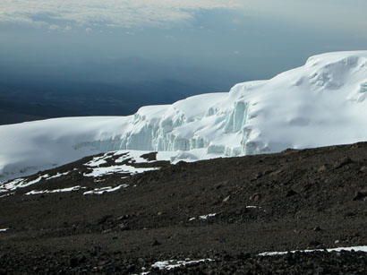 Glacier on Outside of Crater Rim