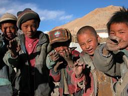 Kids at Tashi Dzom