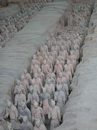 Terracotta Warriors in the pits